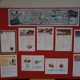Picture of a notice board displaying chocolate recipes