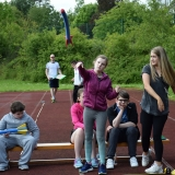 Picture of a pupil javelin throwing
