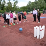 Picture of a pupil bowling