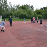 Picture of pupils at the penalty shoot out