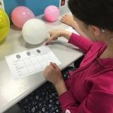 Photograph of a pupil taken their fingerprints