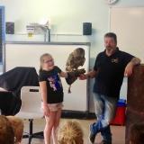 World of Owls show pupils a long eared owl