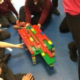 Photograph of pupils bridge building