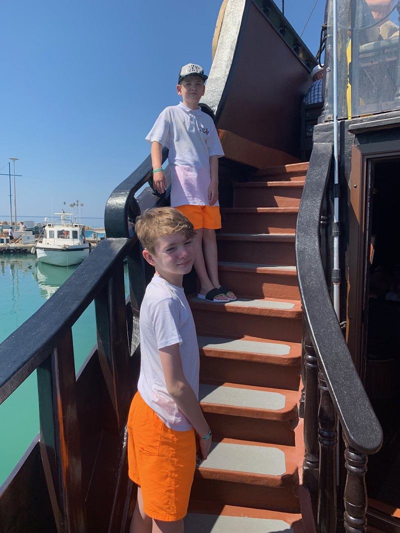 Photograph of a pupils on the Black Pearl pirate ship