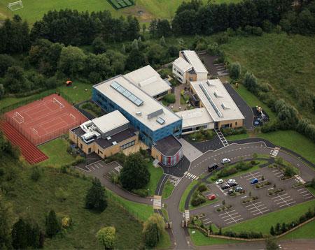 Aerial Photograph Jordanstown School
